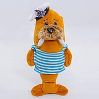 Детская мягкая игрушка,морж Моряк