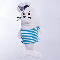 Детская мягкая игрушка тюлень,Белёк,белый