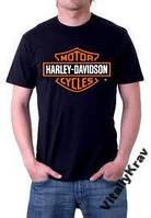 Футболка Harley Davidson, Харлей Девидсон. Черная.
