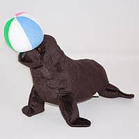 Детская мягкая игрушка,морской Котик с мячом