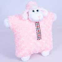 Детская мягкая игрушка,баран в шапке,розовый