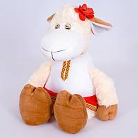 Детская мягкая игрушка,овца Зося,белая