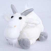 Детская мягкая игрушка,горный козел,белый