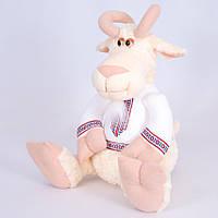 Мягкая игрушка козел Остап в вышиванке
