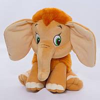Детская мягкая игрушка,мамонтенок,коричневый