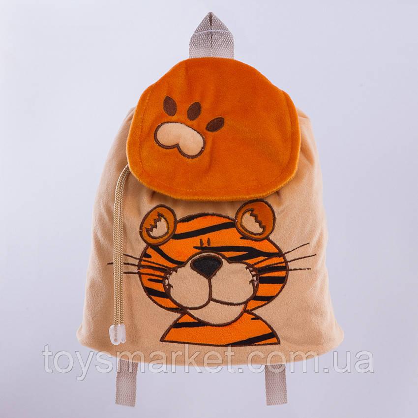 """Детский рюкзак, тигр """"Бонни"""",оранжевый"""