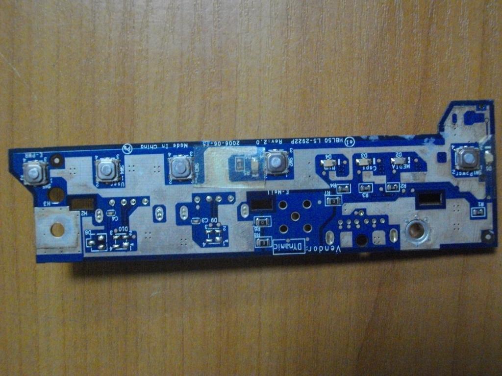 Плата с кнопкой включения USB Acer TravelMate 2490