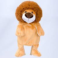 Детский рюкзак Лев,коричневый