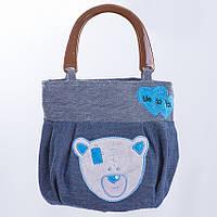 Детская сумка,медвежонок,Тедди,синяя