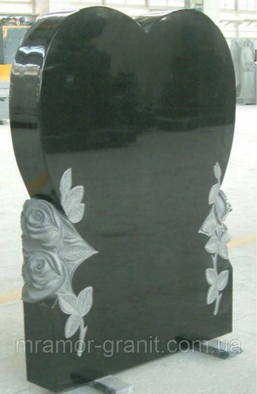 Памятник сердце с розами ПГ - 108