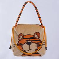 Детская сумка Тигр Бонни,коричневая