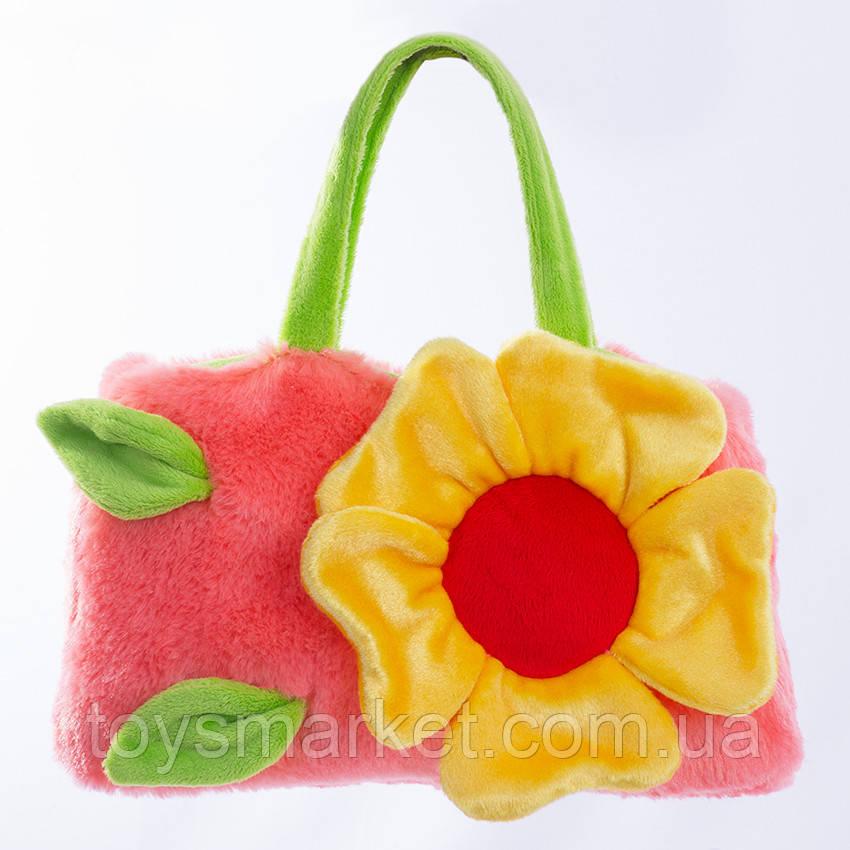 Детская сумка,Цветочек,розовая