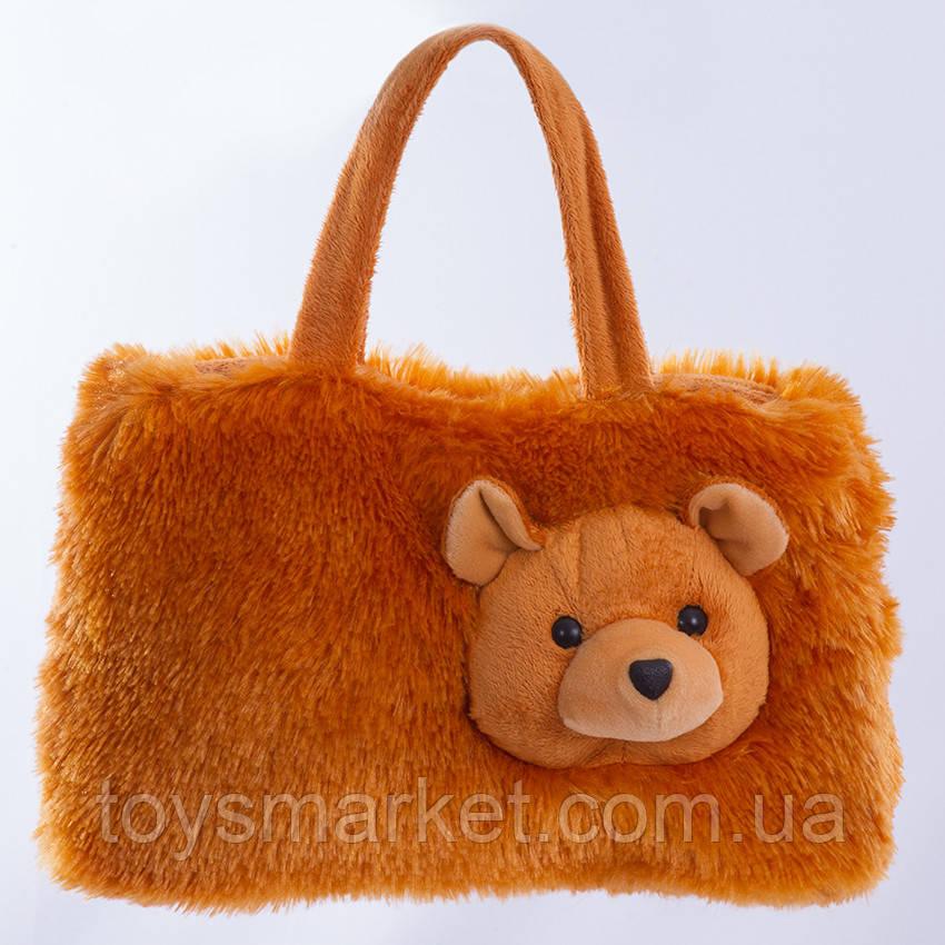 Детская сумка,медвежонок,коричневая