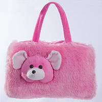 Детская сумка,мышка,розовая