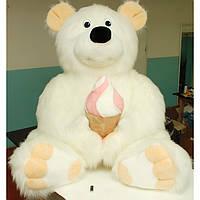 Большая мягкая игрушка,медведь Топтыгин,белый