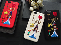 """Iphone 6/6s 4.7 оригинальный кожаный чехол панель бампер накладка НАТУРАЛЬНАЯ КОЖА DG """" Dolce & Gabbana """""""