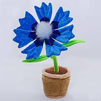 Детская мягкая игрушка,цветочек в горшке,Василёк