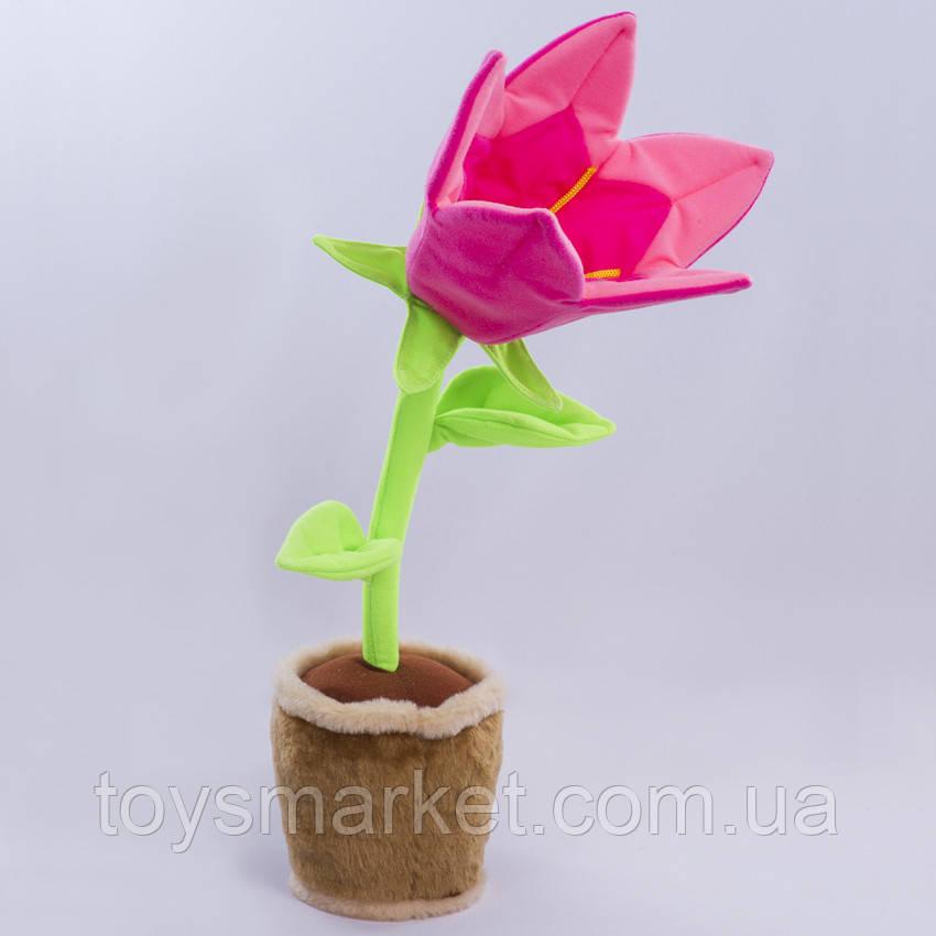 Детская мягкая игрушка,цветочек в горшке,Колокольчик