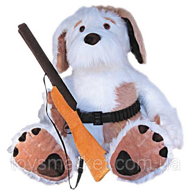 Большая мягкая игрушка, собака Охотник