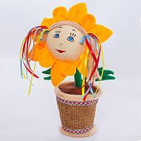 Детская мягкая игрушка,цветочек в горшке,Украинка
