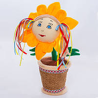 Мягкая игрушка Цветочек в горшке Украинка