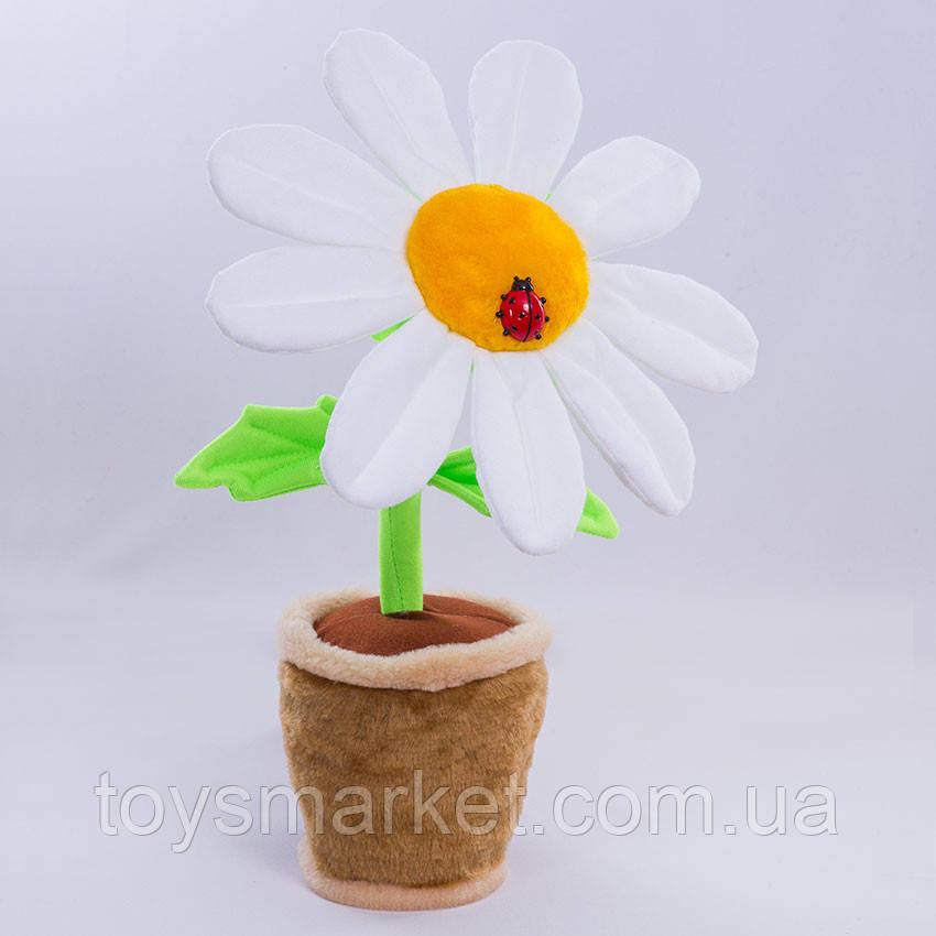 Мягкая игрушка Цветочек в горшке, Ромашка