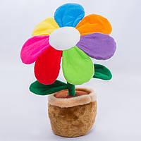 Детская мягкая игрушка,цветочек в горшке,Цветик-Семицветик