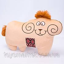 Детская мягкая игрушка,Баран с орнаментом