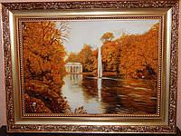 Картина из янтаря Фонтан