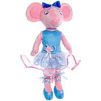 Детская мягкая игрушка,мышка,розовая