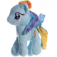 Детская мягкая игрушка,Пони,голубая