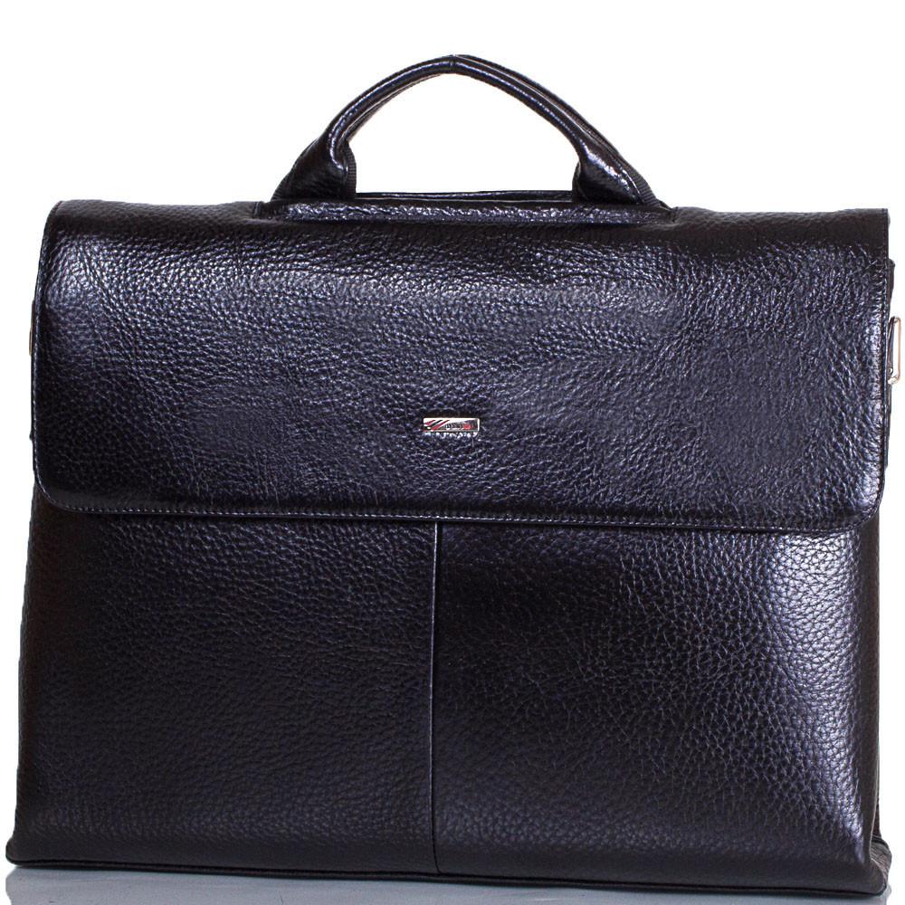 Портфель зі шкіри для ноутбука Desisan чорний