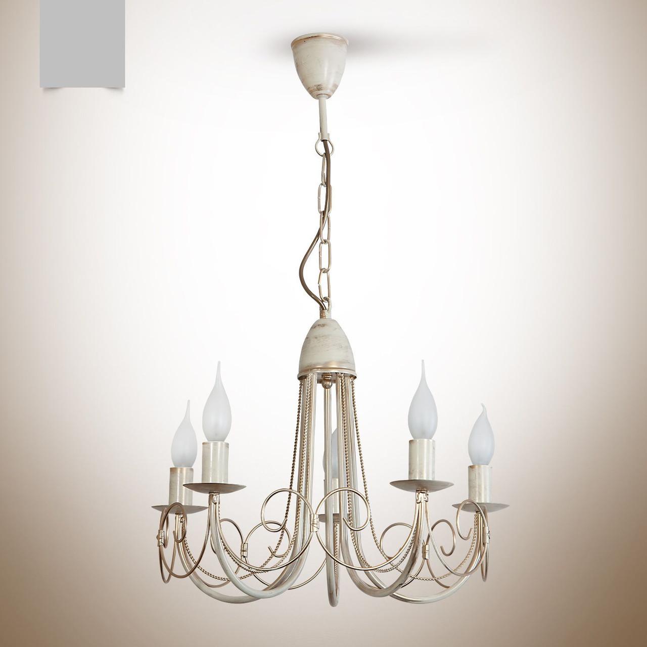Люстра кованная 5 ламповая для спальни, зала, небольшой комнаты 14777
