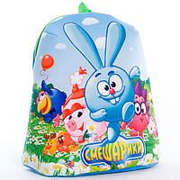 Детский рюкзак,смешарики,голубой