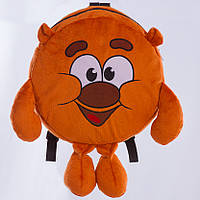 """Детский рюкзак Копатыч, """"Смешарики"""", плюшевый рюкзачок, мягкий рюкзак медвежонок Копатыч"""
