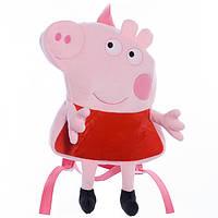 Детский рюкзак,свинка Пеппа,красный