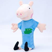 Детская мягкая игрушка,рукавичка,свин Джордж