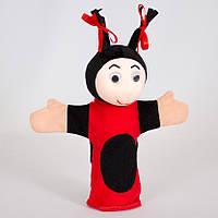 Детская мягкая игрушка,рукавичка,Божья Коровка