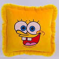Детская подушка, подушка Спанч Боб,желтая