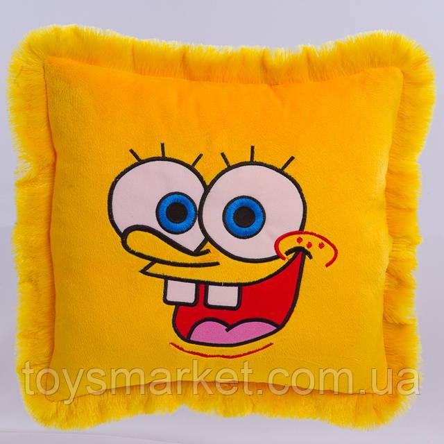 Детская подушка  подушка Спанч Боб желтая  фото 1