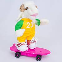 Детская мягкая игрушка,музыкальный Баран на скейте