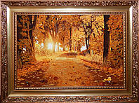 Картина из янтаря Лесная дорога