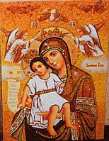 Иконы из янтаря. Икона Богородицы Достойно Есть