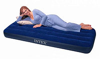 Надувной матрас Intex 68757 одноместный, синий,191 х 99 х 22 см