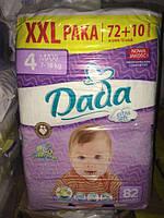 Подгузники Dada 4 ХХL Paka (от 7 до 18 кг)--82 шт.  Comfort Fit Extra Soft Польша