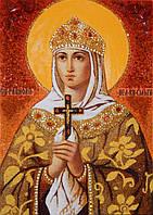 Икона из янтаря Святая княгиня Ольга