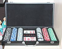 Набор для покера 300 фишек без номинала в кейсе