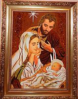 Панно из янтаря Святая семья