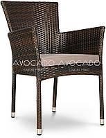 Кресло плетеное LERIDA  57X62X84 cm коричневое