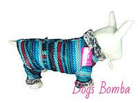 Одежда для собак зимний комбинезон на змейке